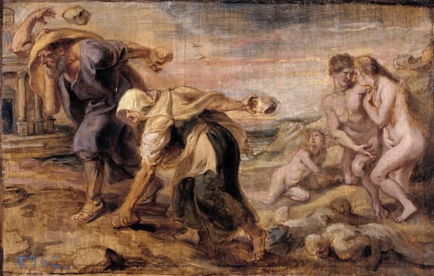 Deukalion-Pyrra-mity-grecja-hellada-antyczna